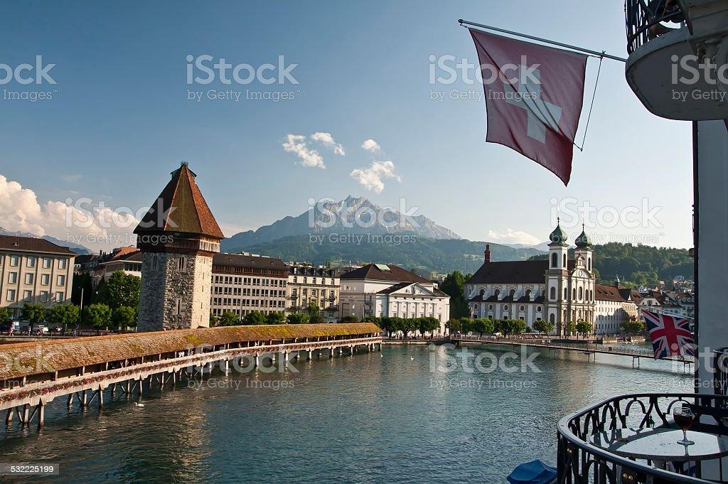 Switzerland - Lucerne, Kapellbrücke stock photo