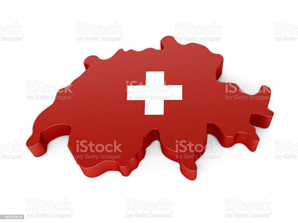 Switzerland Map stock photo