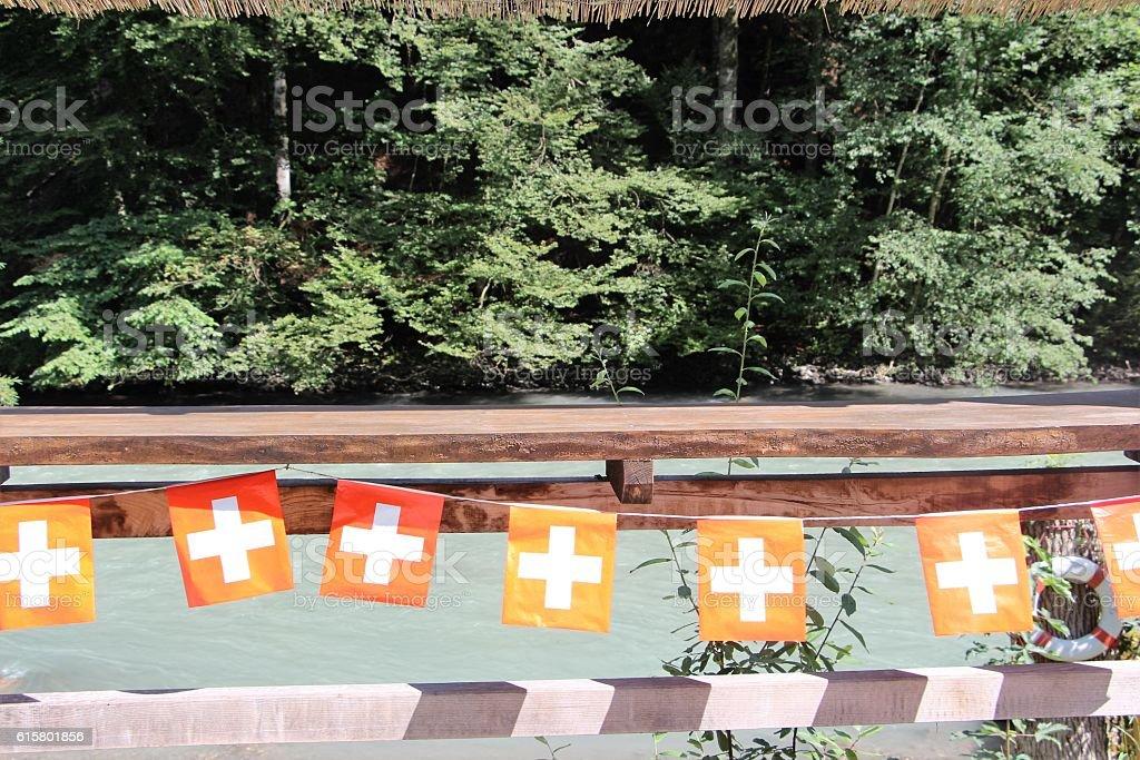 switzerland - nature et drapeau stock photo