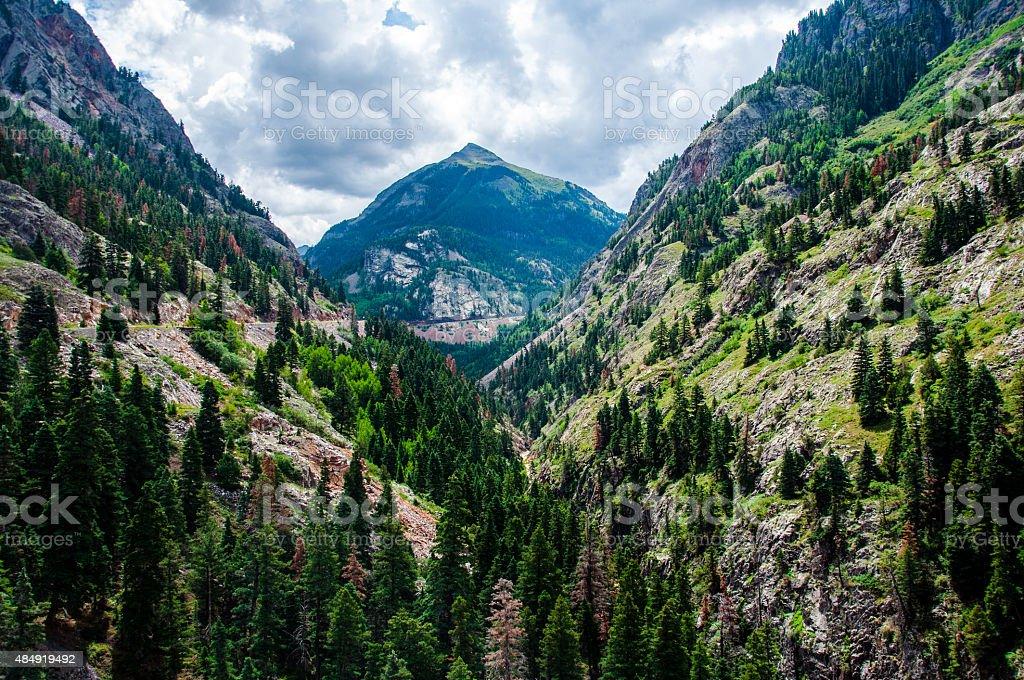 Switzerland of America Million Dollar Highway Ouray Colorado stock photo
