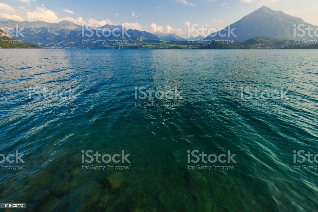 Switzerland Scenic Lake Thun stock photo
