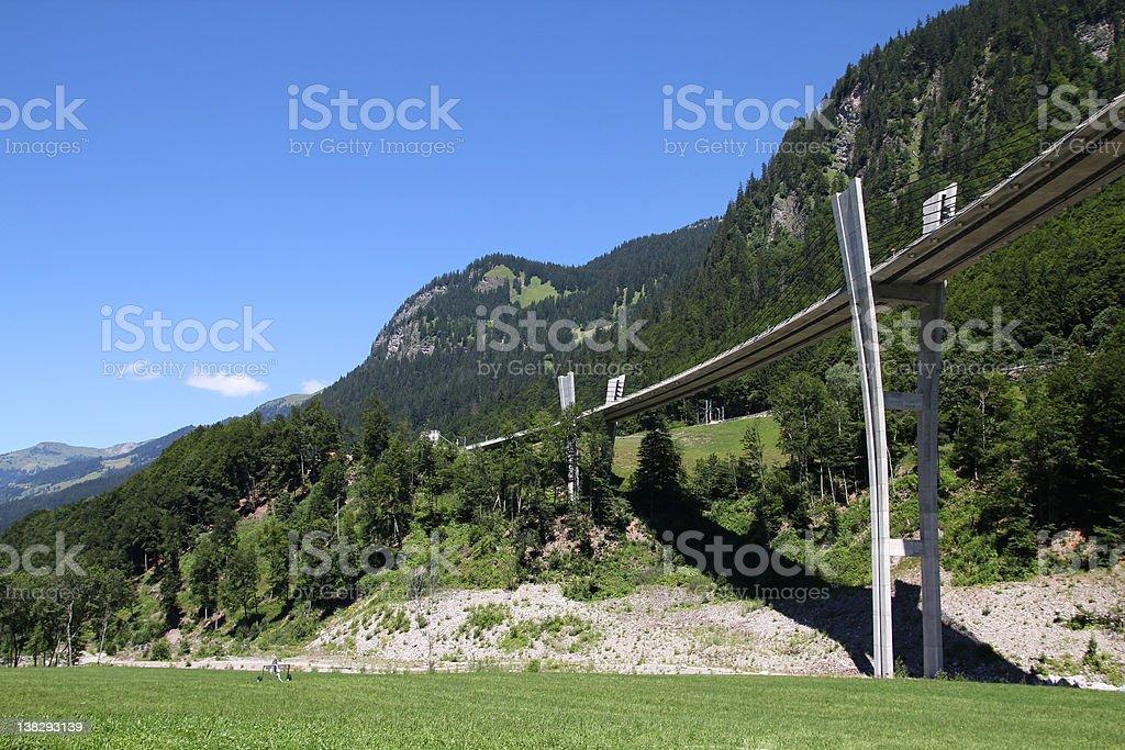 Switzerland - Sunniberg Bridge royalty-free stock photo