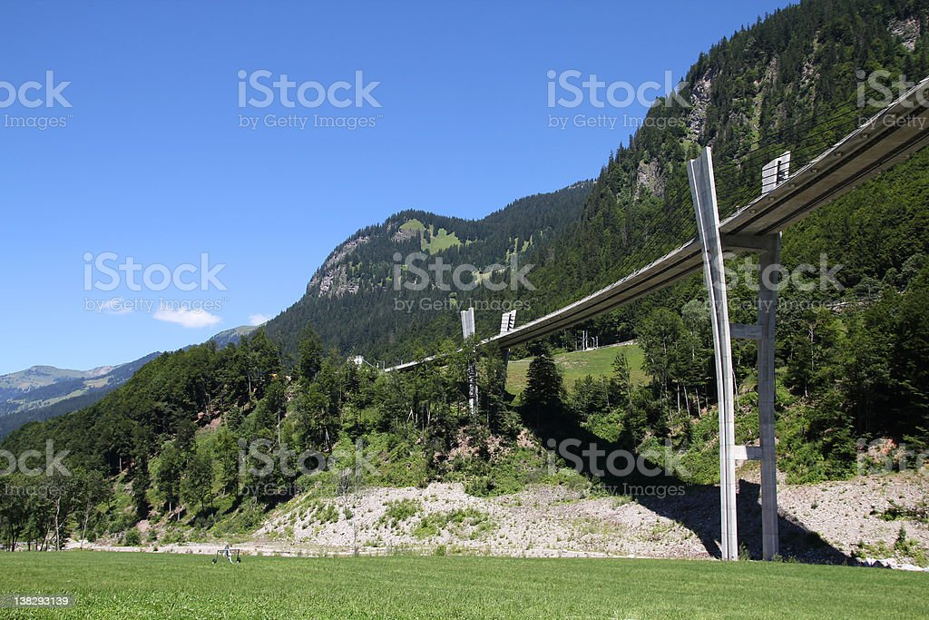 Switzerland - Sunniberg Bridge stock photo