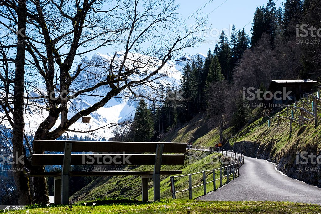 Switzerland Trekking stock photo