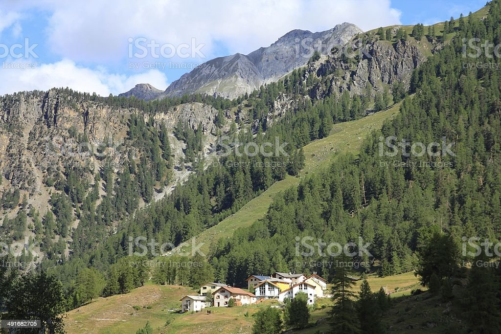 Switzerland - Val Mustair stock photo