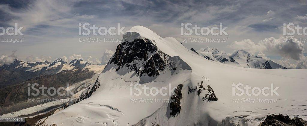Switzerland. West Breithortn from Klein Matterhorn stock photo