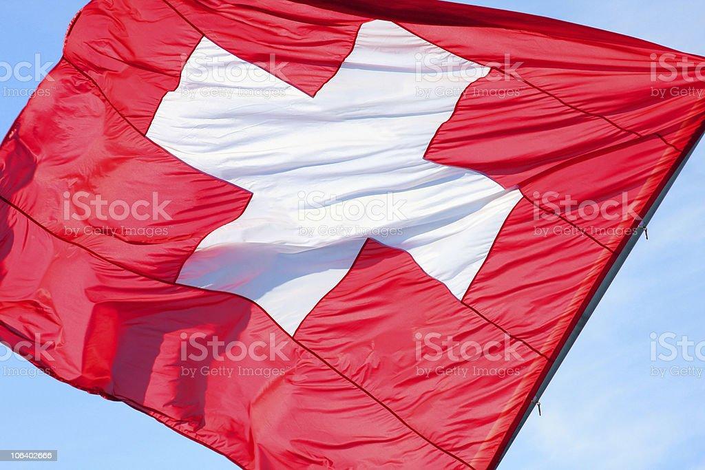 Switzerlandflag stock photo