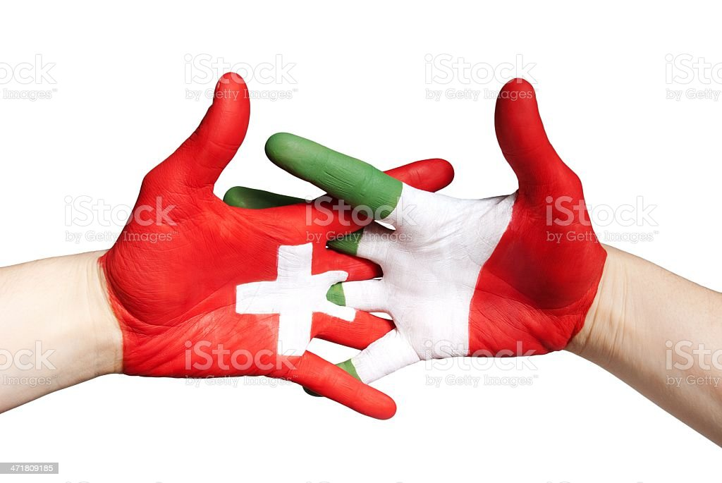 switzerlands and italy royalty-free stock photo