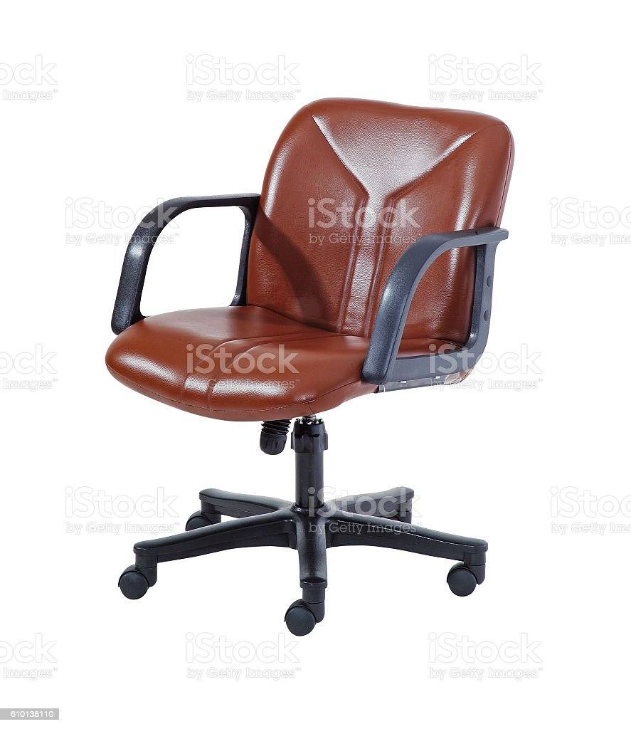 Swivel chair stock photo