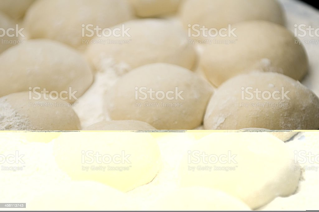 swollen dough with flour royalty-free stock photo
