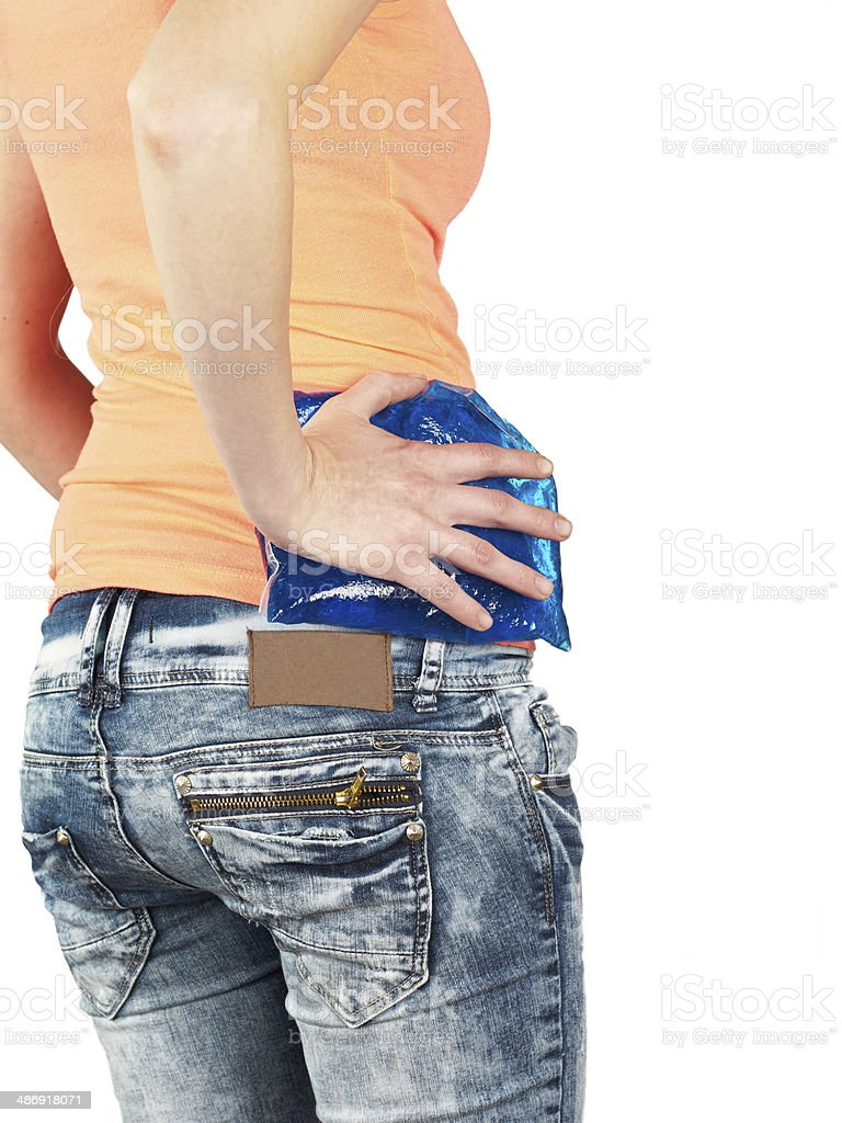 Swollen hurting hip. royalty-free stock photo