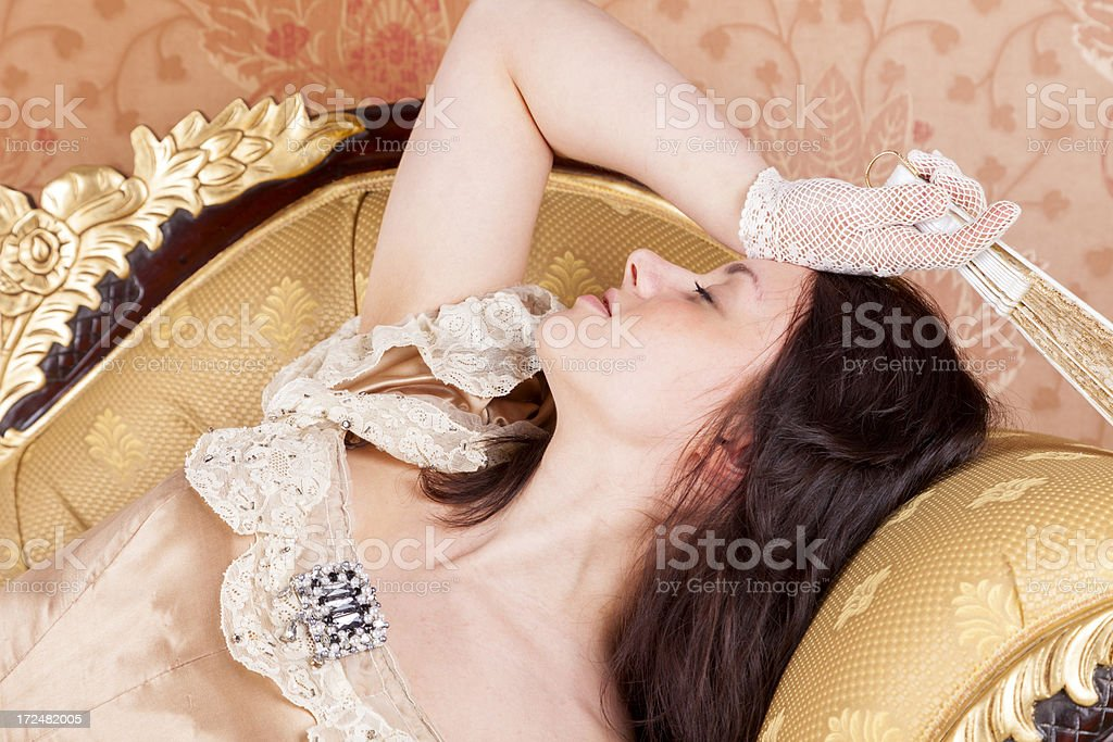 Swooning Maiden royalty-free stock photo