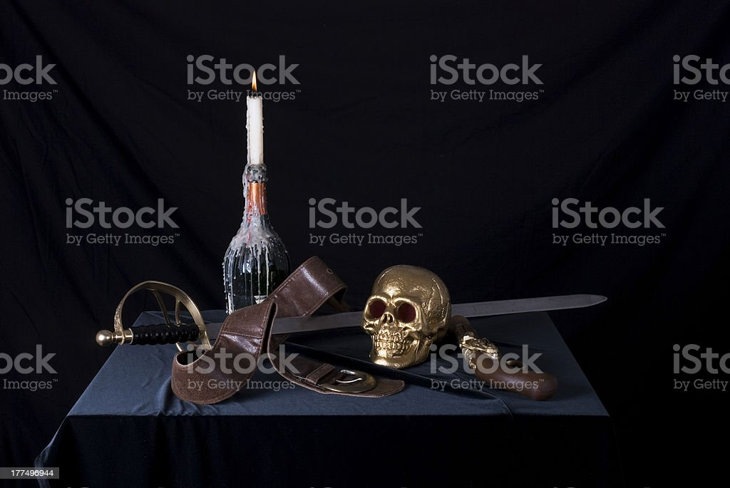 sword and skull royalty-free stock photo
