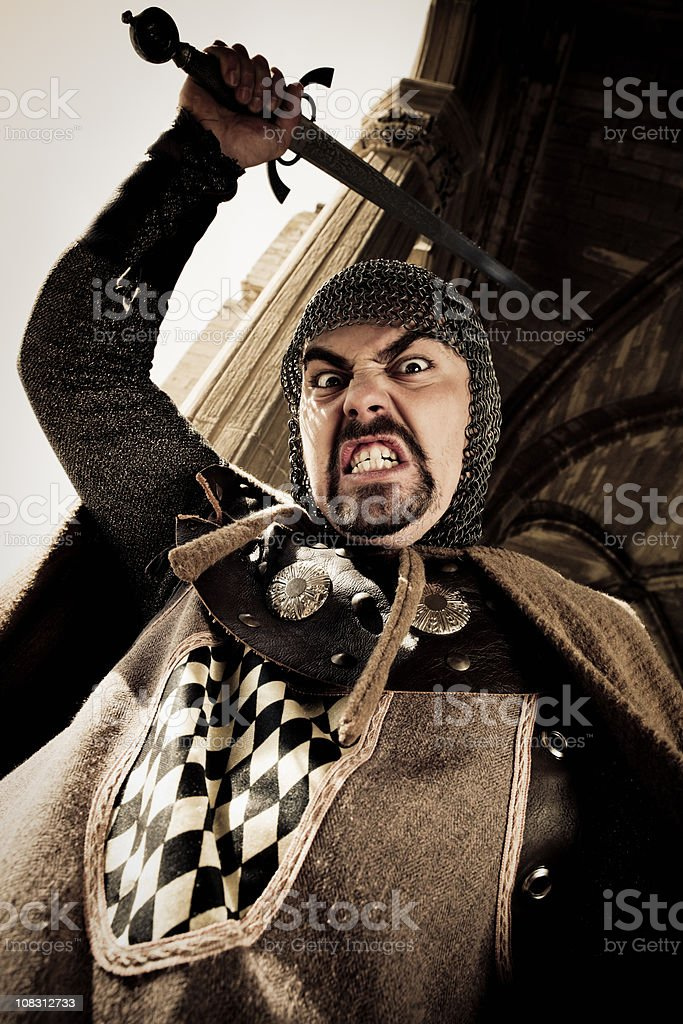 Sword Attack Knight Fighting royalty-free stock photo