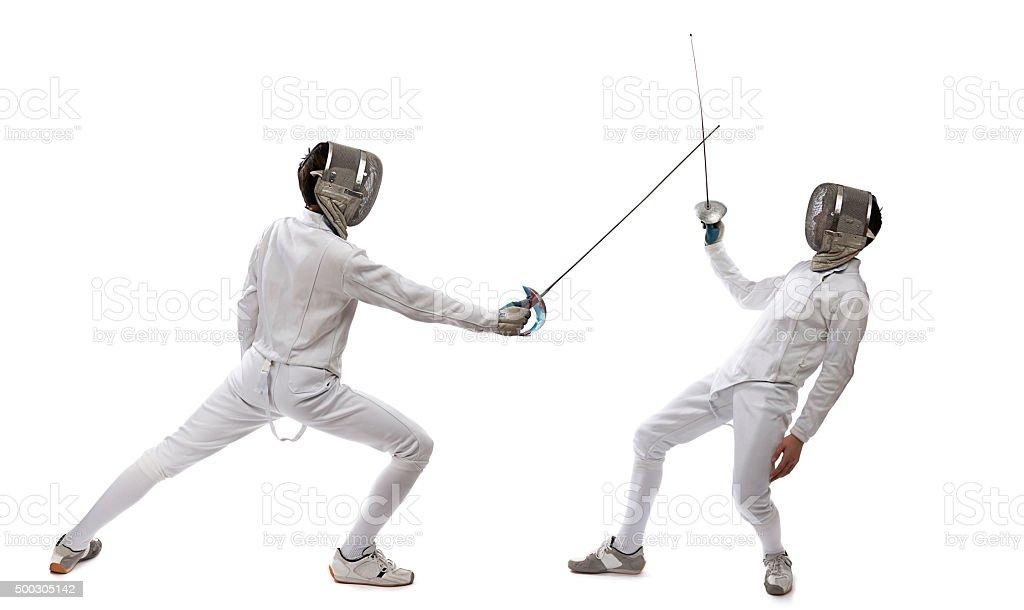 Sword Fight stock photo