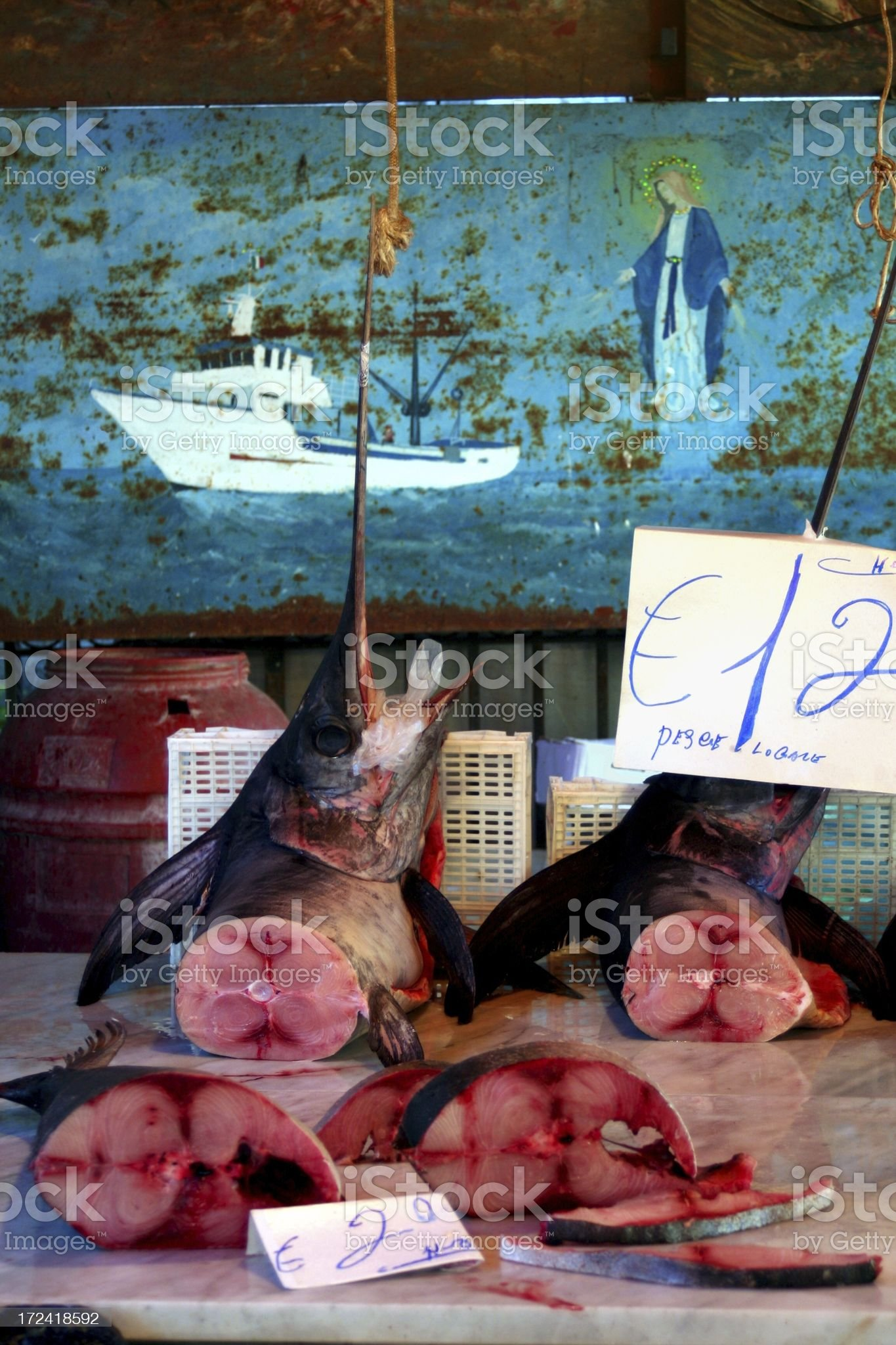 Sword fishes royalty-free stock photo