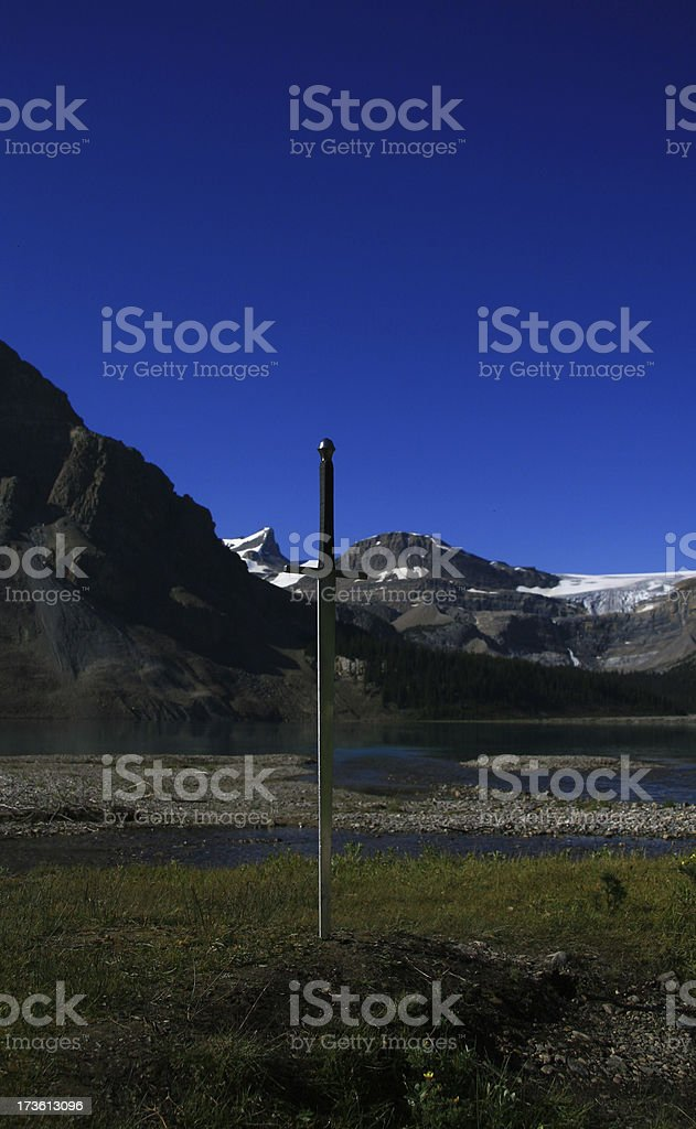Sword in the Ground stock photo