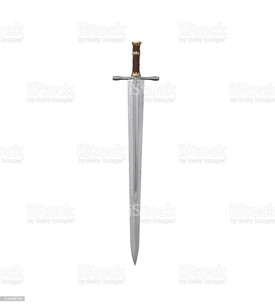 sword isolated stock photo
