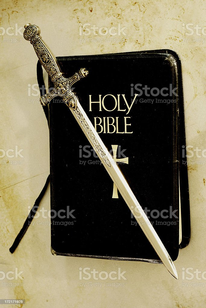 Sword of God stock photo