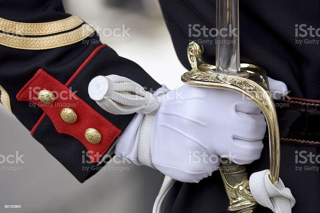 Меч честь охрана Стоковые фото Стоковая фотография