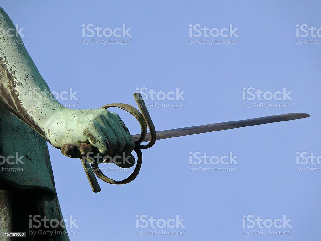 Sword of Justice stock photo
