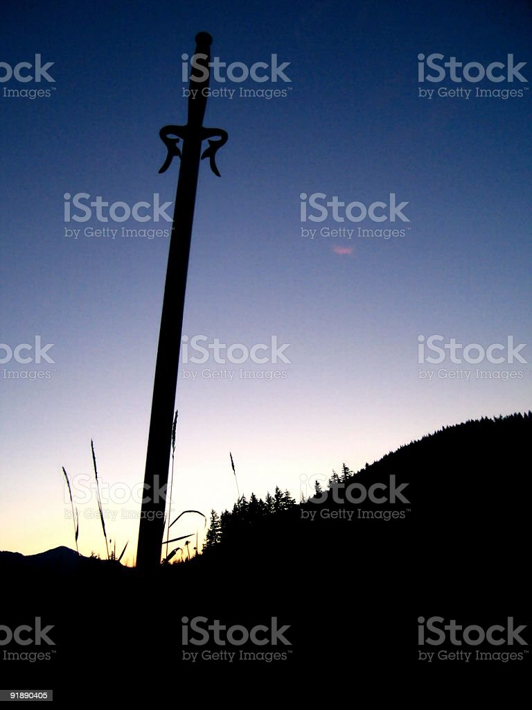 Sword royalty-free stock photo