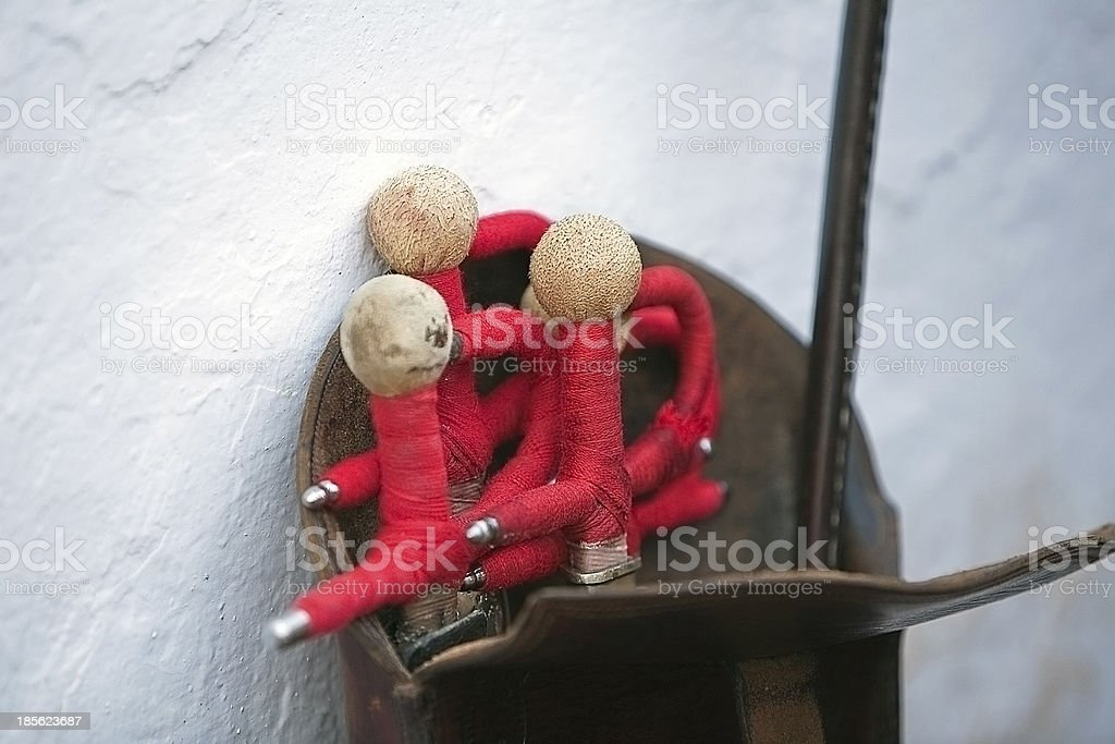 sword toreador supported on the white wall, Spain stock photo