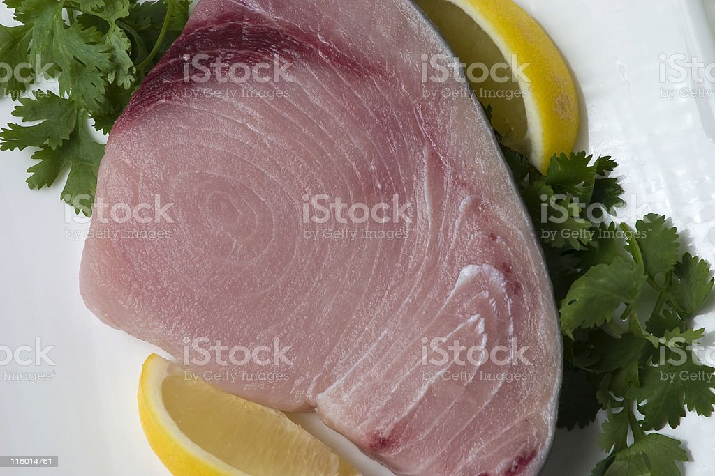 Swordfish steak stock photo