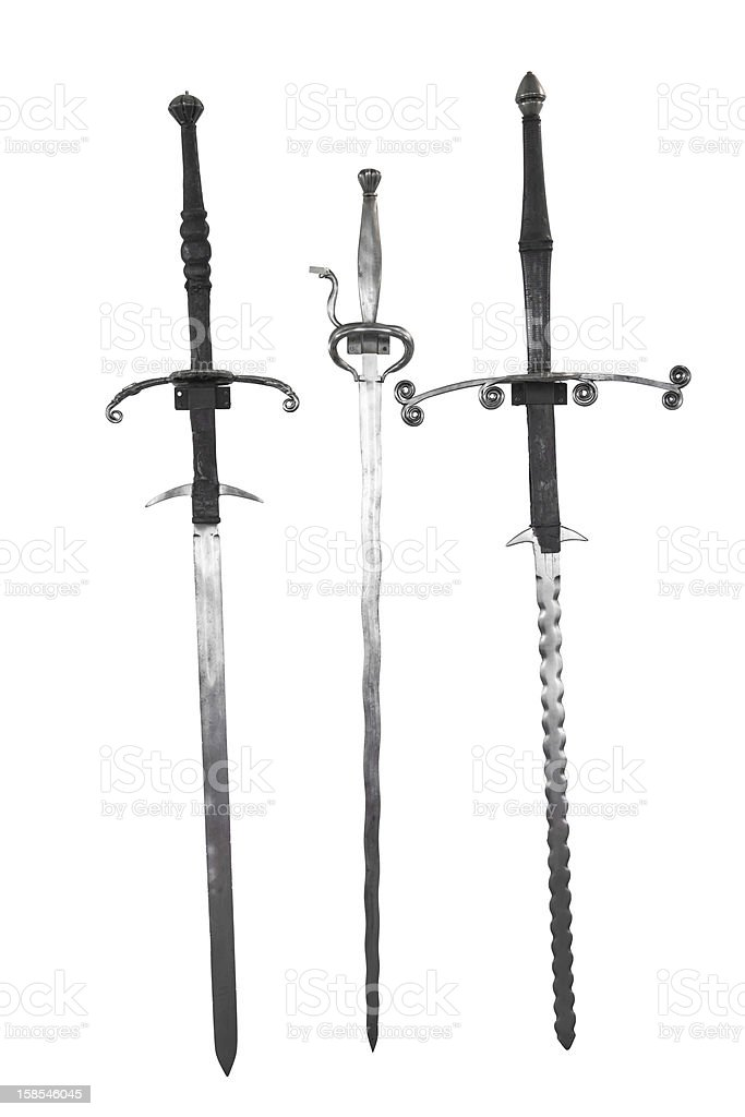 Swords Collection - CLIPPING PATH included royalty-free stock photo