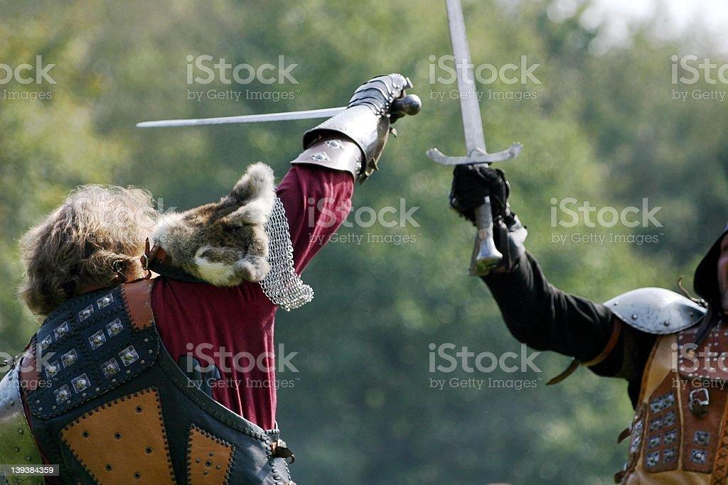 swordsman fight royalty-free stock photo