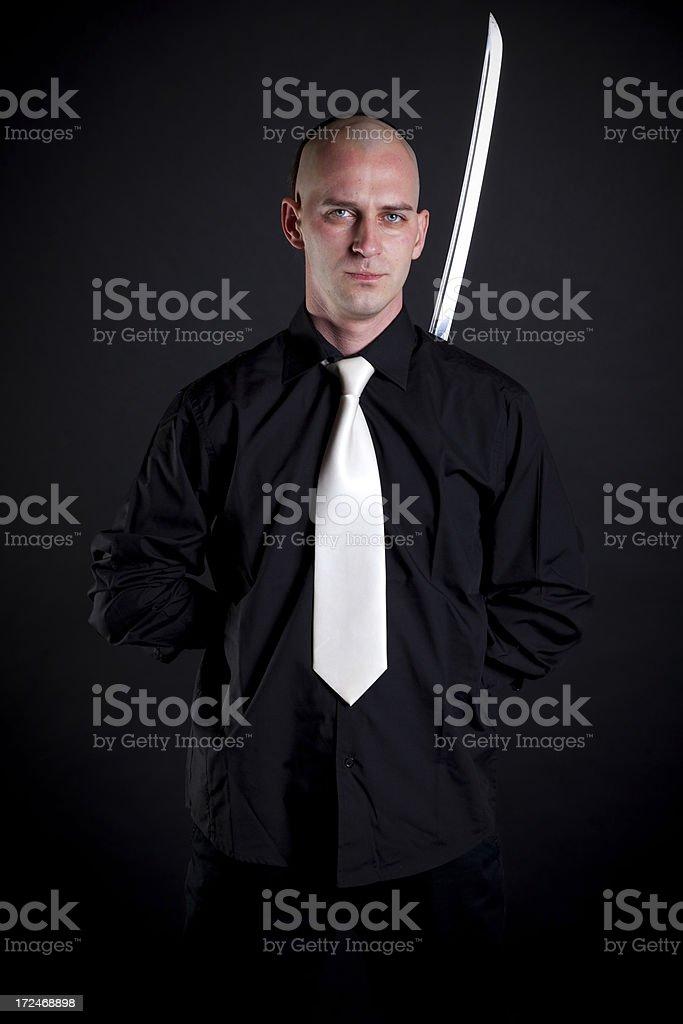 swordsman stock photo