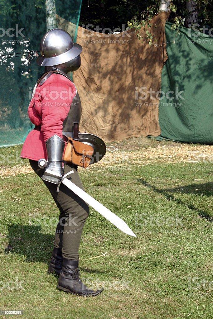 swordsman royalty-free stock photo