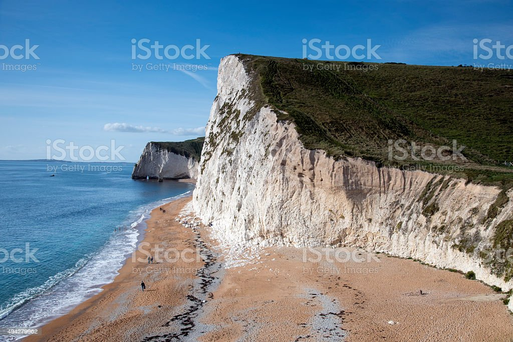 Swyre Head and Bat's Hole on Dorset's Jurassic Coast royalty-free stock photo