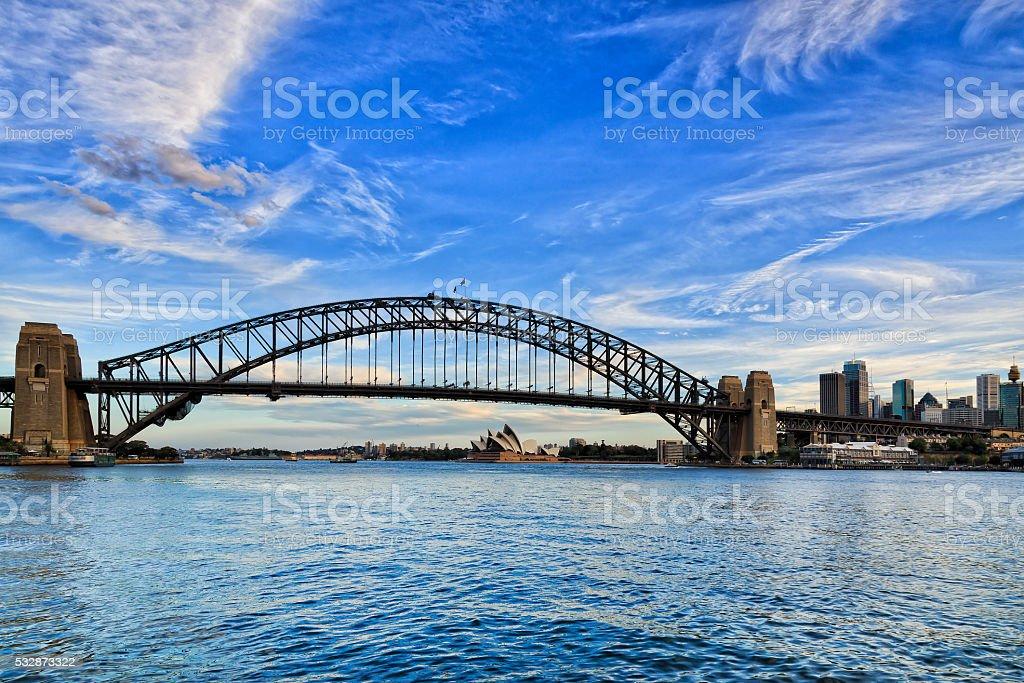 Sy Bridge Lavender bay day stock photo