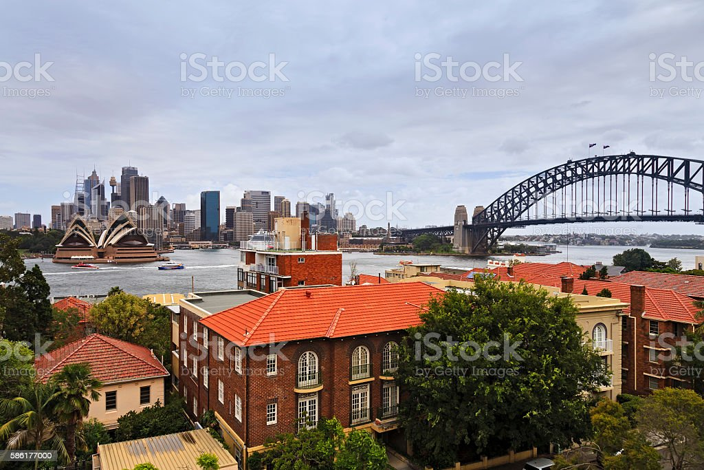 Sy CBD Coombs Clouds stock photo