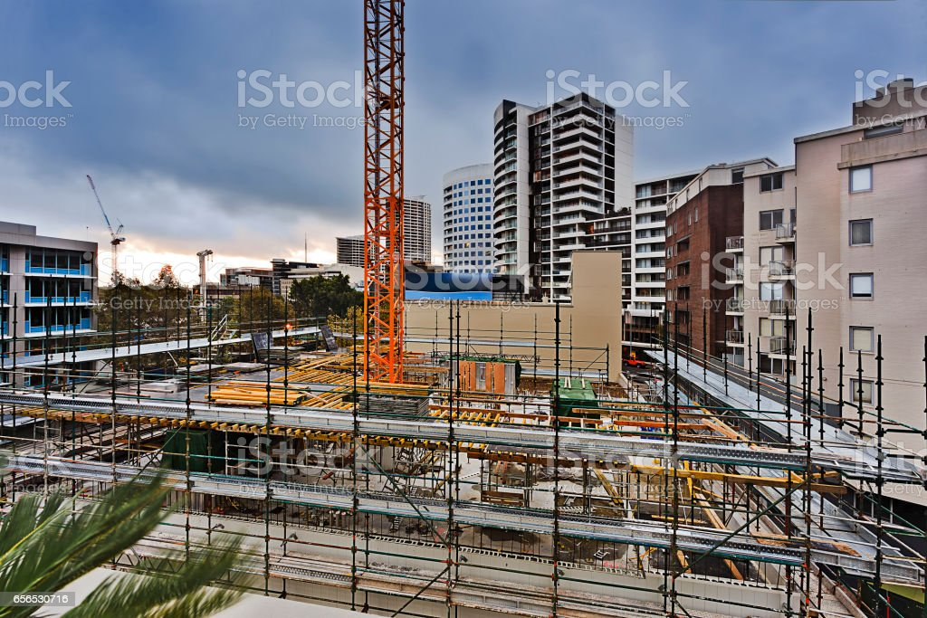 Sy Construct site st leon stock photo