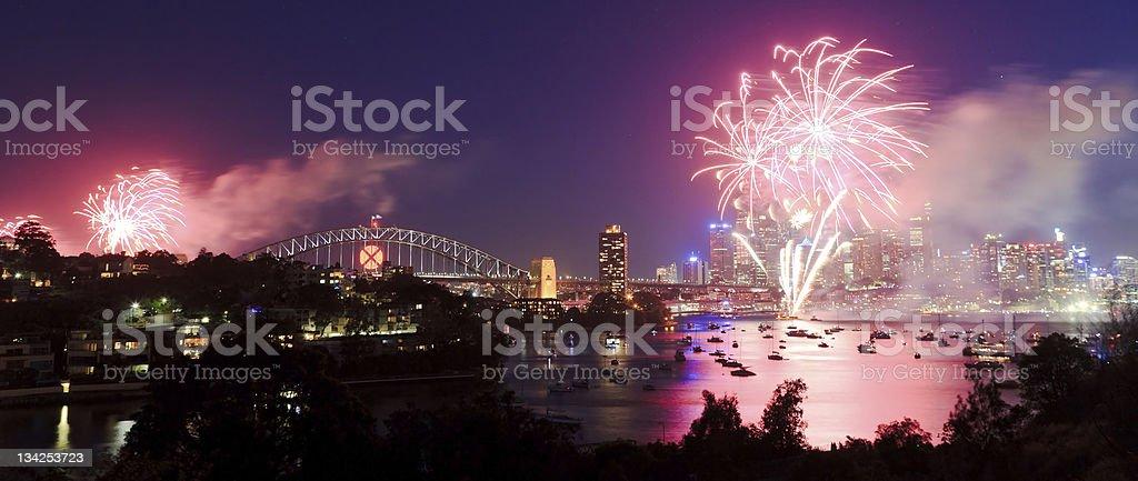 Sy Fireworks Pan royalty-free stock photo