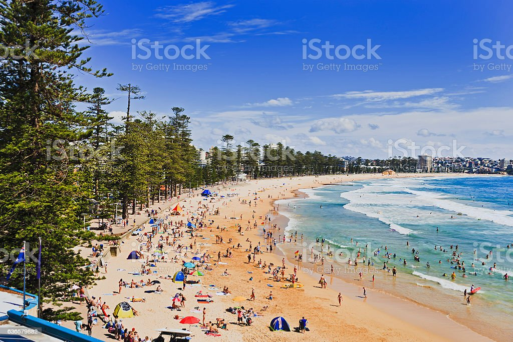 Sy Manly Beach Above Day stock photo
