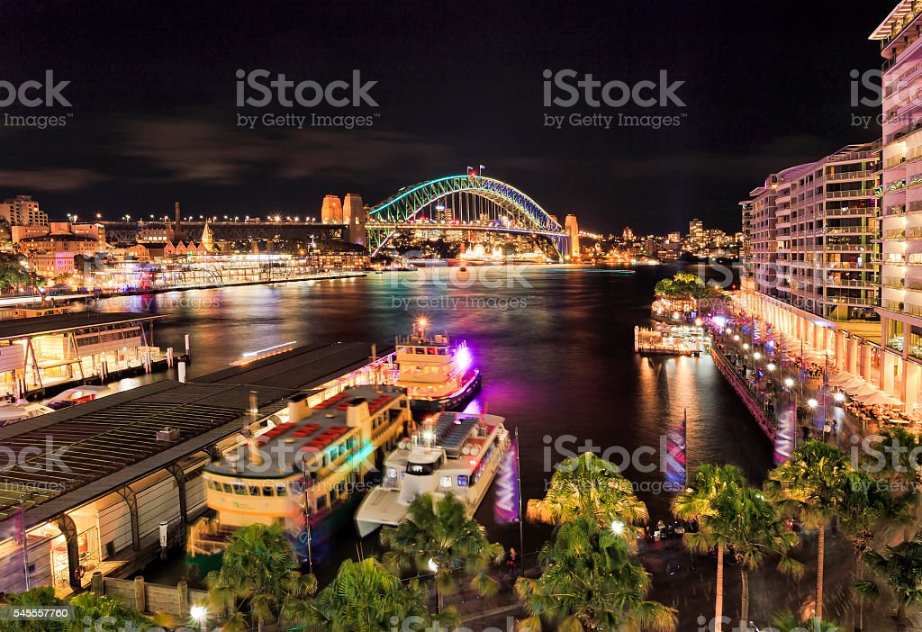 Sy Vivid 2016 Circular Bay right stock photo