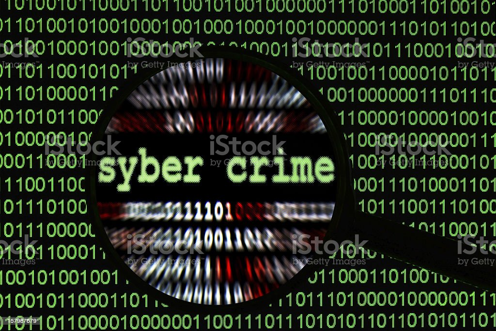 Syber crime royalty-free stock photo