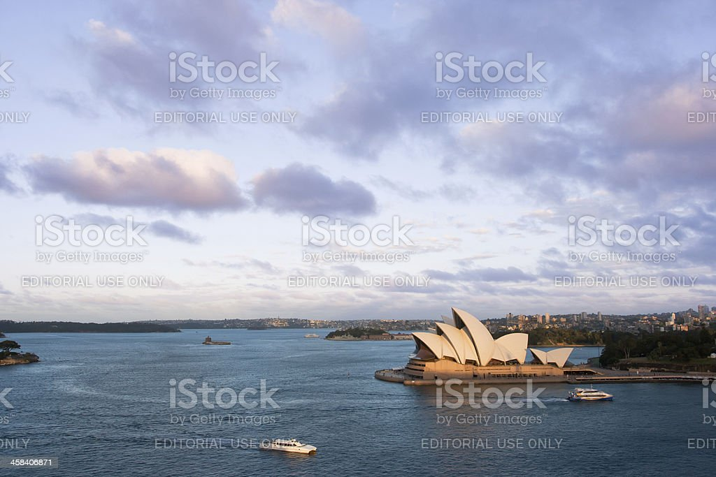 Sydeny Opera House at Sunset, Australia royalty-free stock photo