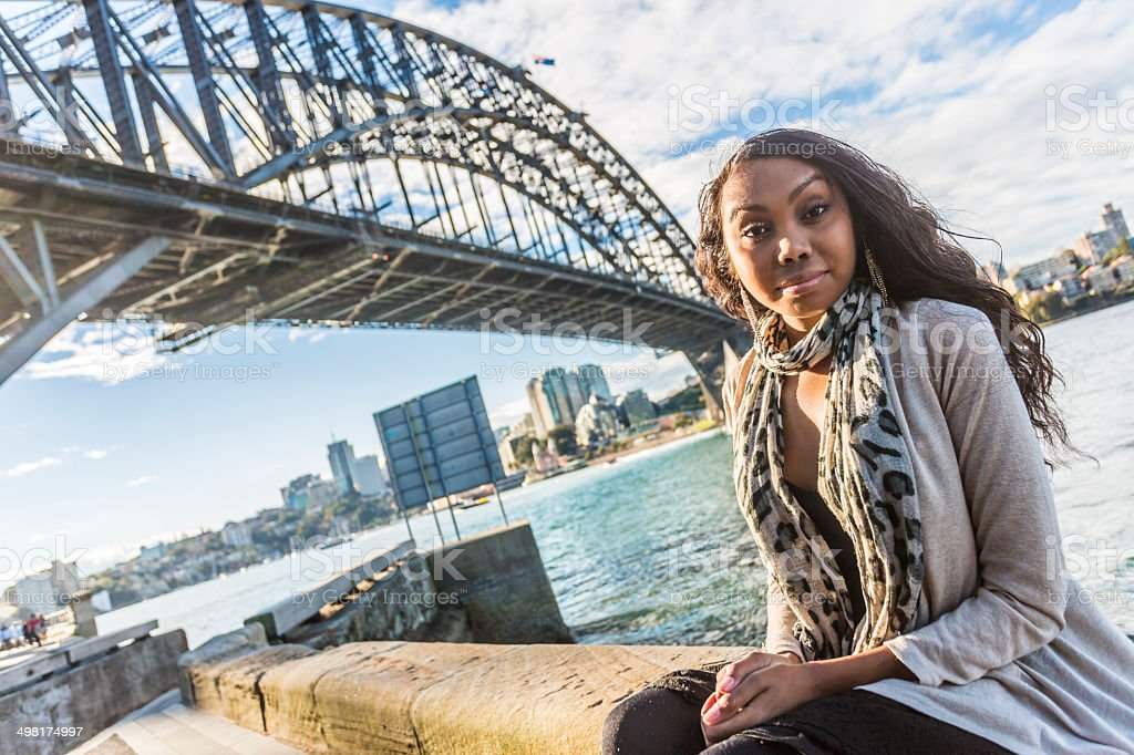 Sydney Aboriginal Woman stock photo