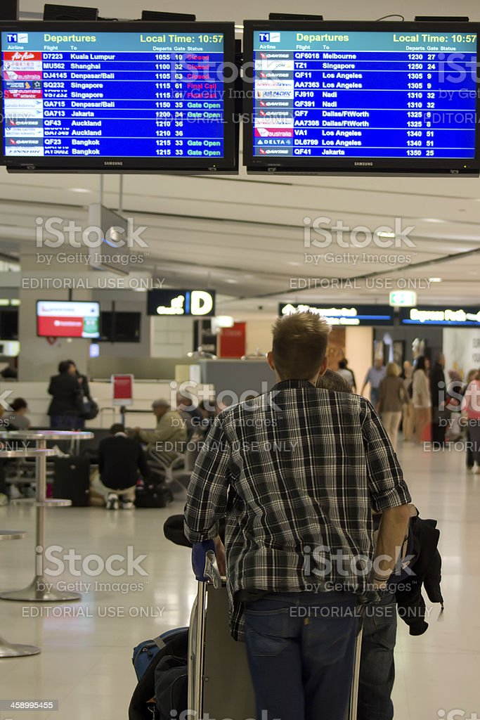 Sydney Airport - Departure Terminal royalty-free stock photo