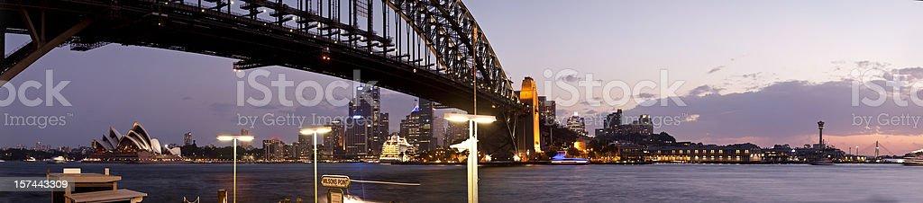 Sydney at dusk royalty-free stock photo