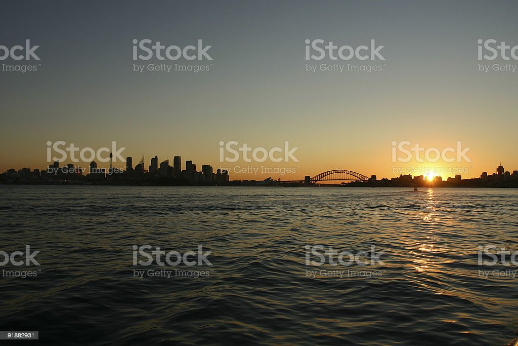 sydney at dusk royalty-free stock photo