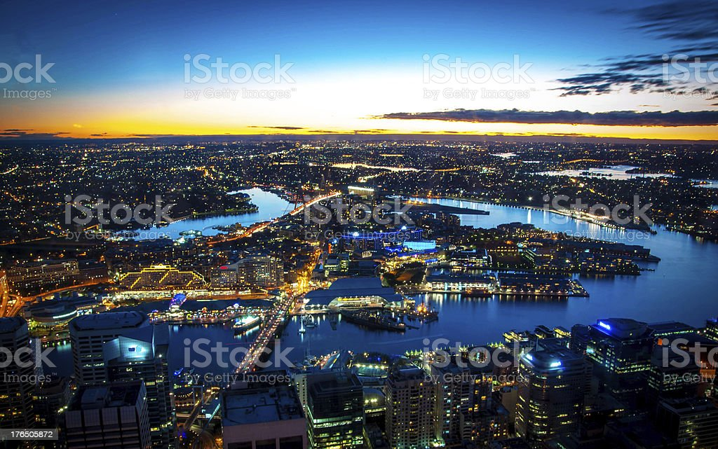 Sydney at Night stock photo