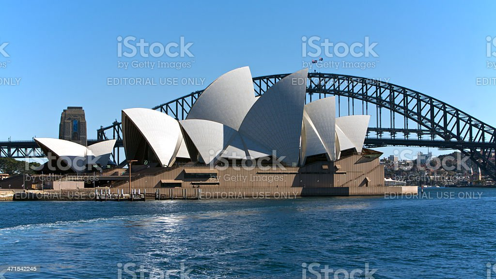 Sydney, Australia Opera House and bridge royalty-free stock photo