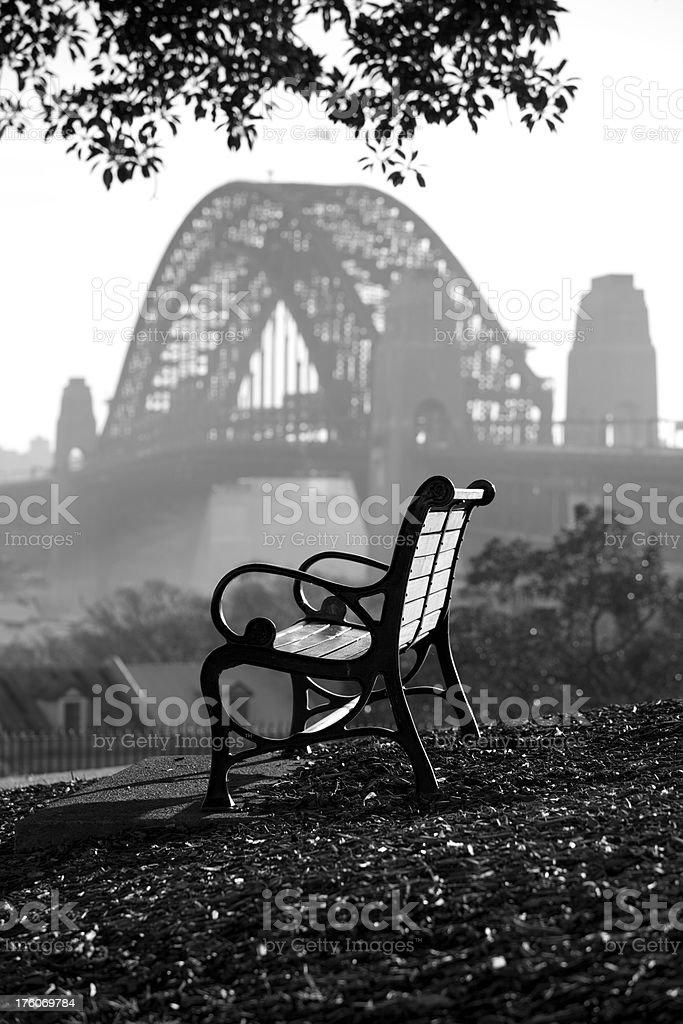 Sydney Bench royalty-free stock photo
