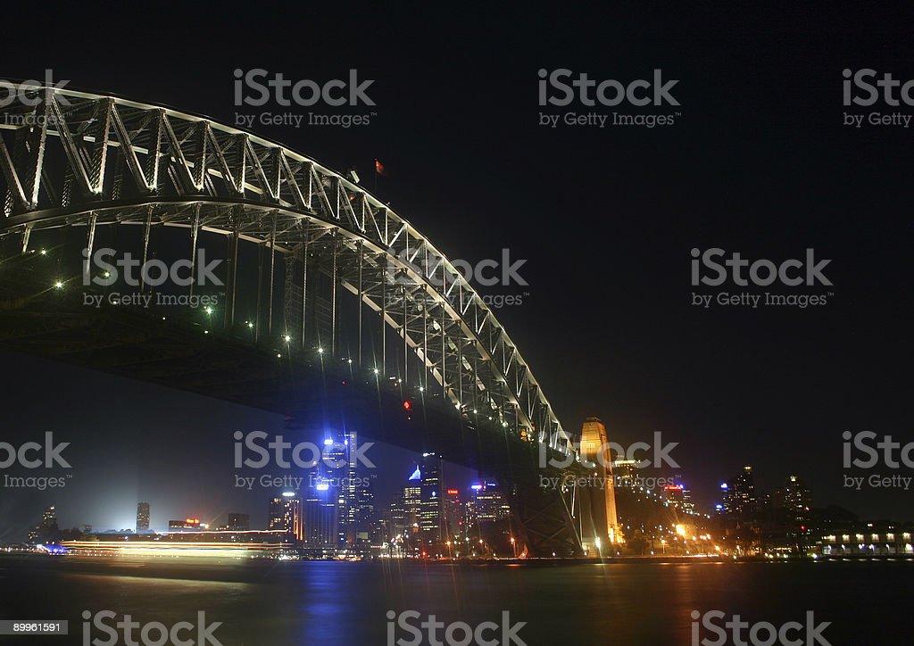 sydney bridge at night royalty-free stock photo