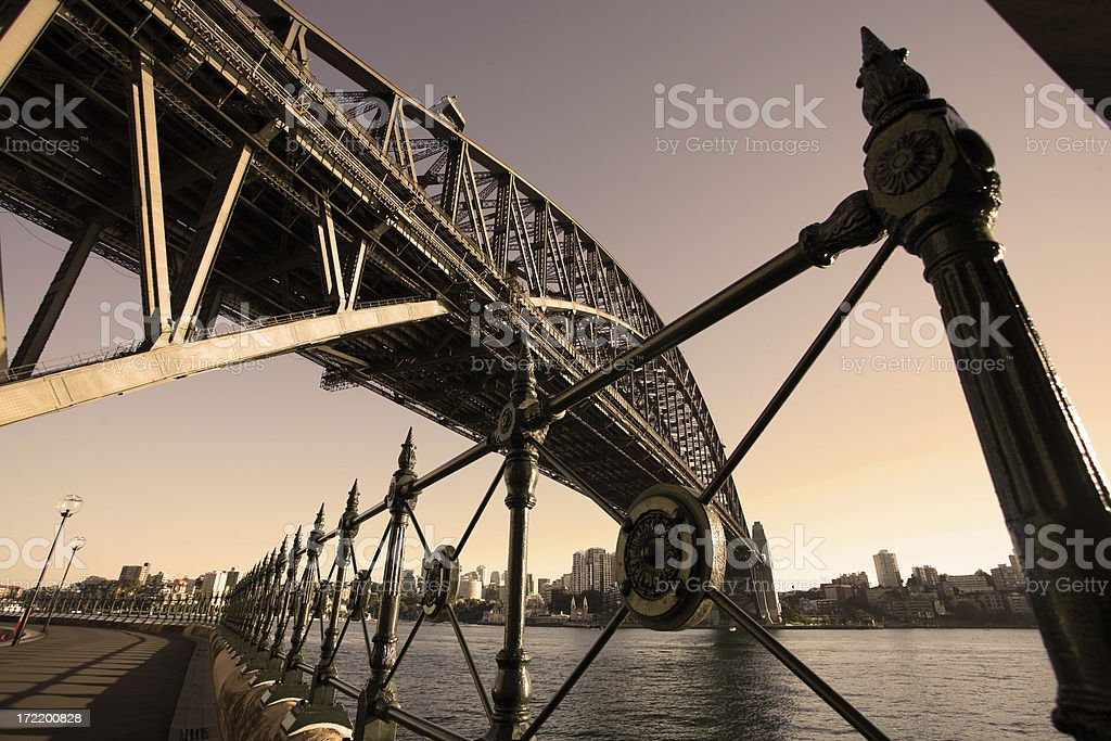 sydney bridge in the morning royalty-free stock photo